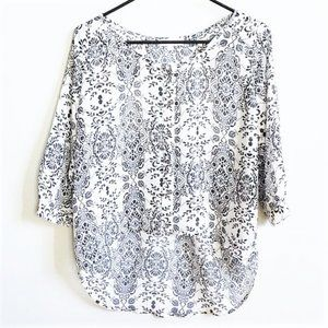 SOCIALITE Grey High Low Open Back Sheer Blouse | S